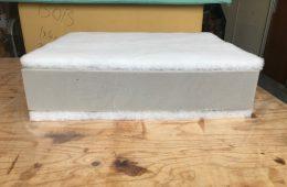 Foam is cut to measurements