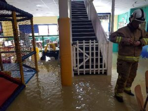 Soft play foam ruined by flood