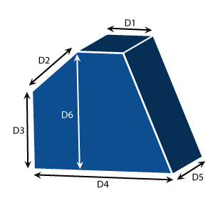 5-Sided Trapezoid Seat Cushions